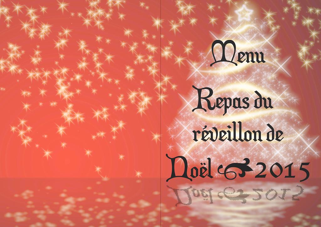 Menu Noël 2015