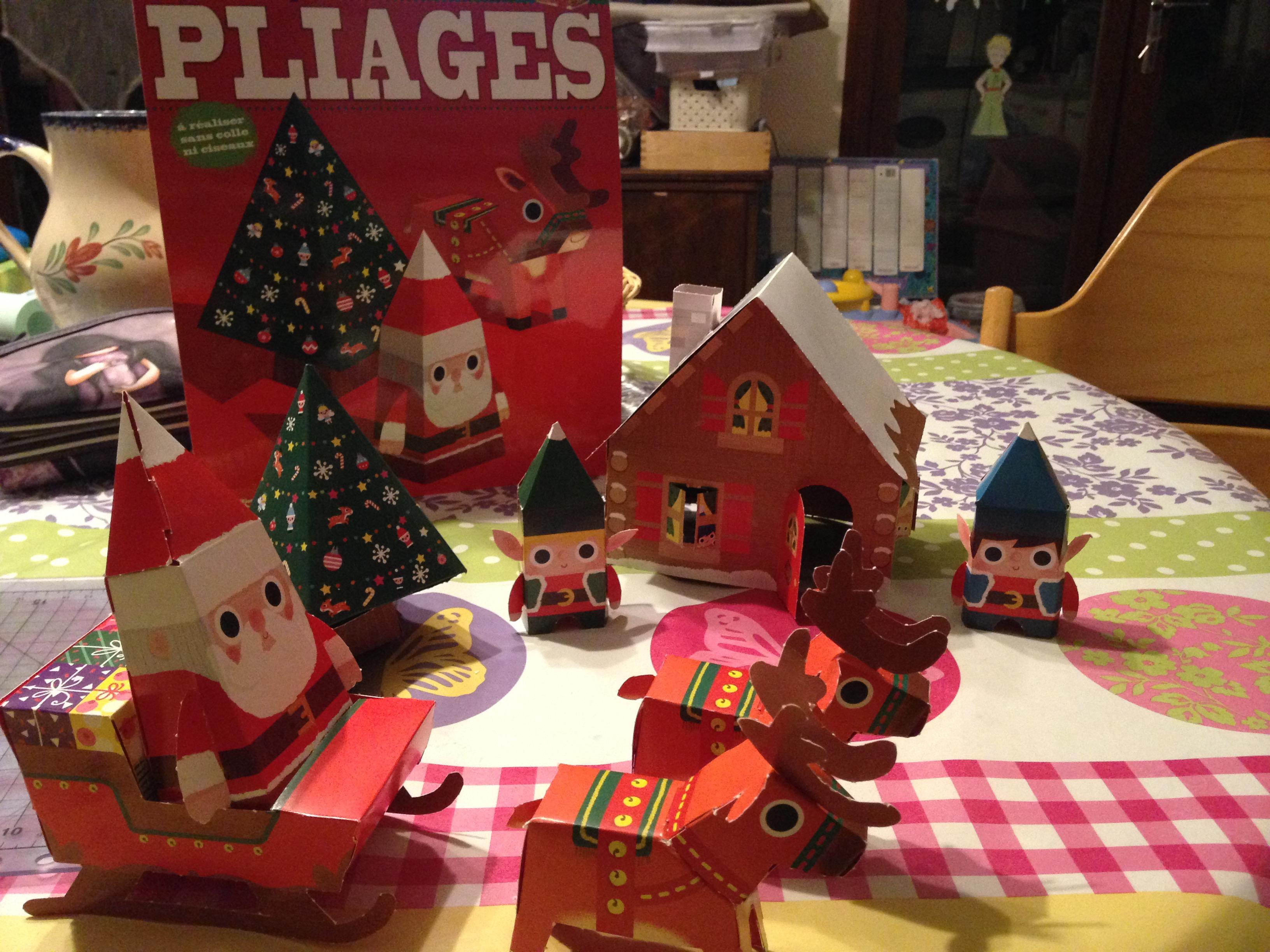 Village de pliages de Noël